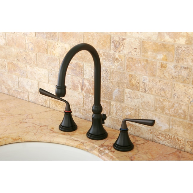 oil rubbed bronze widespread bathroom faucet 13978007 overstock