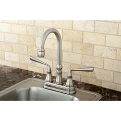 Satin Nickel Centerset Bar Faucet