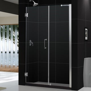 DreamLine Unidoor 53-57x72-inch Frameless Hinged Shower Door