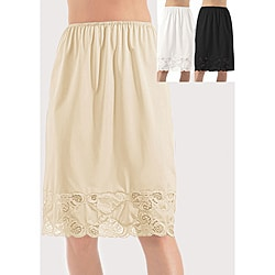 Ilusion 24-inch Antistatic Half Slip with Lace Details
