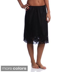 Illusion's Women's 24-inch Antistatic Lace Detailed Half Slip