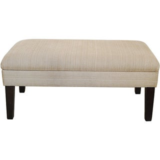 Decorative Storage Bench-Textured Tan with Gold Chenille Tweed
