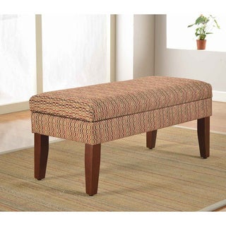 Decorative Geometric Multicolor Storage Bench