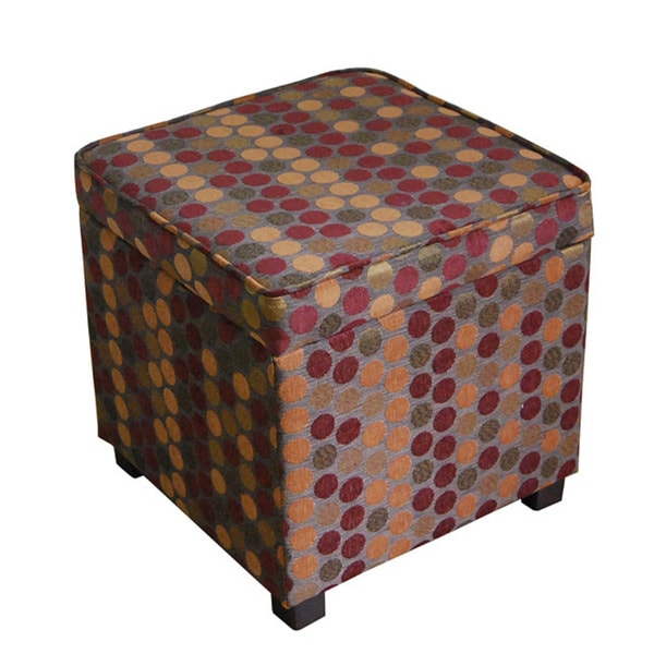Square Lift Top Storage Ottoman