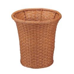 Round Wicker Wastebasket