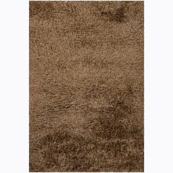 Handwoven Wool Blend Multicolor Mandara Shag Rug (5' x 7'6)