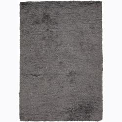 Handwoven Gold/Gray/Beige Mandara Shag Rug (5' x 7'6)