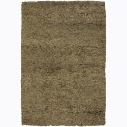 Handwoven Tricolor Wool/Linen Mandara Shag Rug (7'9 x 10'6)