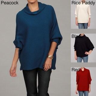 RXB Women's Ribbed Dolman-sleeve Sweater