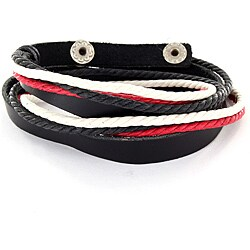 Multi-colored Leather Strand Bracelet