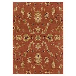 LNR Home Adana Rust Floral Rug (5'3 x 7'5)