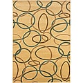 Cream/Multi Circles Rug 5'3 x 7'5""