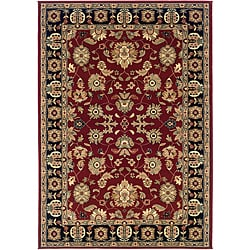 Red/Black Traditional Oriental Rug (7'9