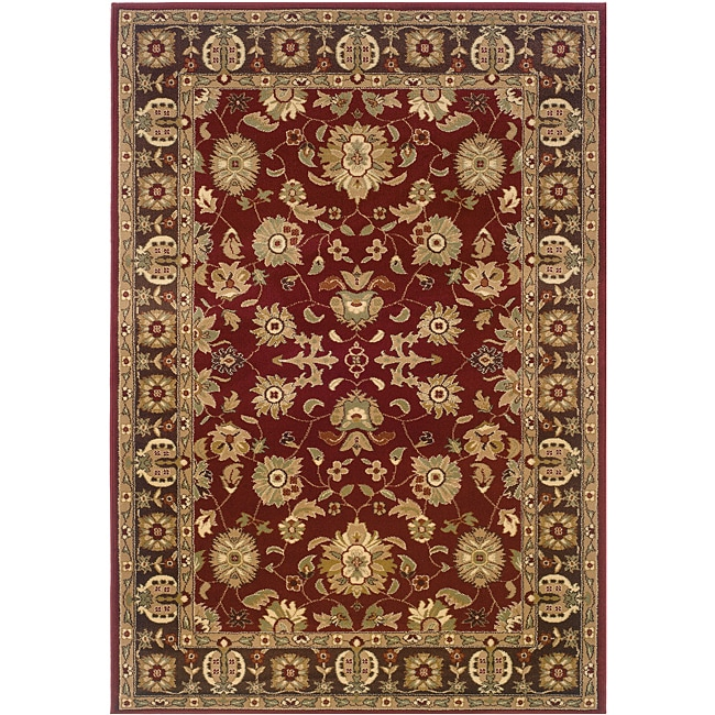 Red/Brown Oriental Rug (7'9 x 9'9)