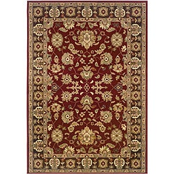 Red/ Brown Oriental Rug (5'3 x 7'5)