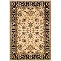 LNR Home Adana Cream/ Black Oriental Rug (7'9 x 9'9)