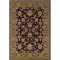 Brown/ Gold Oriental Rug (7'9 x 9'9)