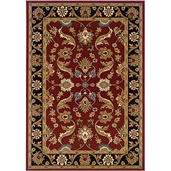 LNR Home Adana Red/ Black Oriental Rug (5'3 x 7'5)