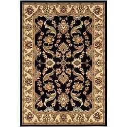 LNR Home Adana Black/ Cream Oriental Rug (7'9 x 9'9)