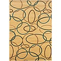 Cream/Multi Circles Runner 2'2 x 7'1""