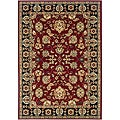Red/Black Oriental Polypropylene Runner Rug (2'2 x 7'1)