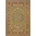 Green/Gold Oriental Runner Rug (2'2 x 7'1)