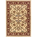 Cream/Red Oriental Runner Rug (2'2 x 7'1)