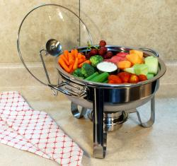 4QT Stainless Steel Chafing Dish With New Duo Section Design