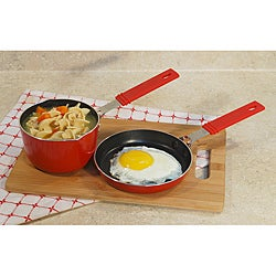 Mini saucepan 3/4QT and mini frypan set with non stick coating 5 1/2""