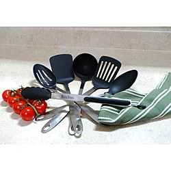 Stainless Steel Kitchen Tool Set With Nylon Serving Tips 6 Piece