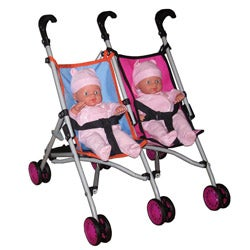 "Twin Stroller with (2) 14"" Dolls"
