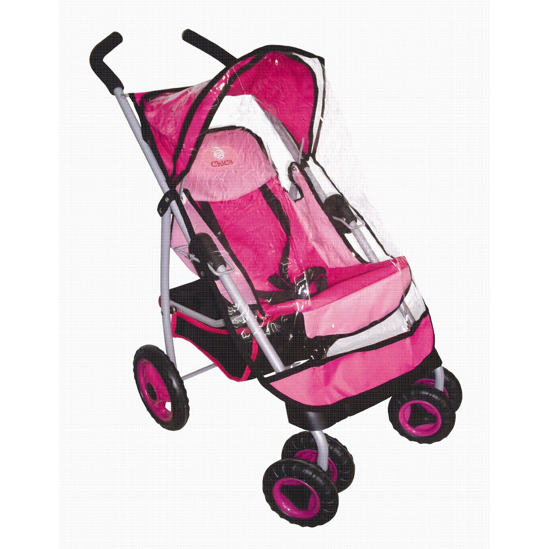 Swivel Wheel Doll Stroller With Rain Cover