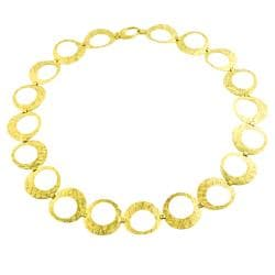 Fremada 14k Yellow Gold Textured Contempo Necklace