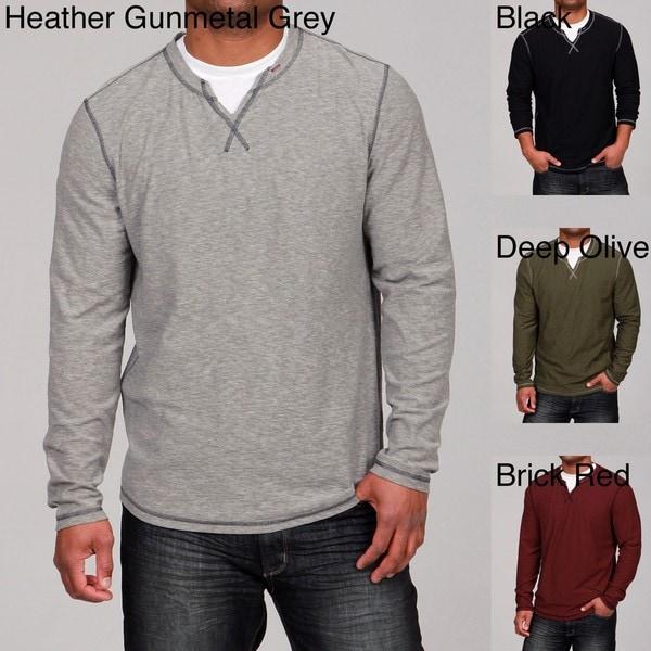 Seven7 Men's Crew Neck Slit Shirt