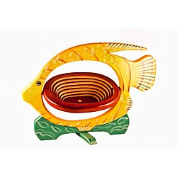 Collapsible Yellow Fish Basket
