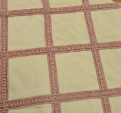 Sadie Pink Stitched Silk Drapery Panel 84""