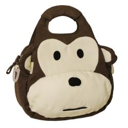 EcoGear EcoZoo Cotton Monkey Lunch Tote (with Adjustable Strap)