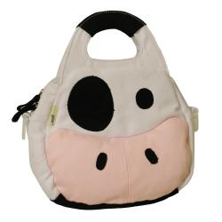 EcoGear EcoZoo Insulated Canvas Cow Lunch Tote with Shoulder Strap
