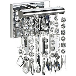 1 Light Chrome Crystal Wall Sconce 6