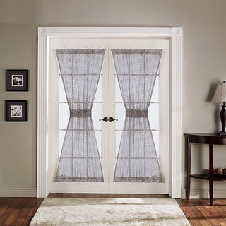 Lush Decor Antique Gray 72-inch French Door Panels (Set of 2)