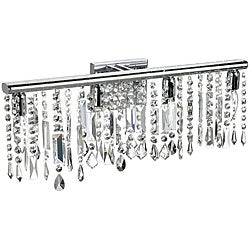 4 Light Chrome Crystal Wall Sconce Bathroom Vanity Fixture 24