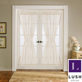 Lush Decor Ivory 72-inch Sonora Door Panels (Set of 2)