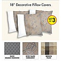 Decorative Polyester Pillow Cover (Three-Piece Set)