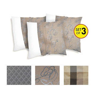 Decorative Polyester Pillow Cover (Set of 3)