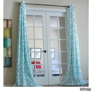 Zarya Grommet Flocked Curtain Panel