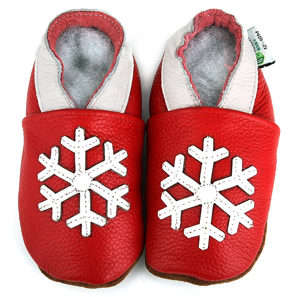 Augusta Products Snowflake Soft Sole Leather Baby Shoes at Sears.com