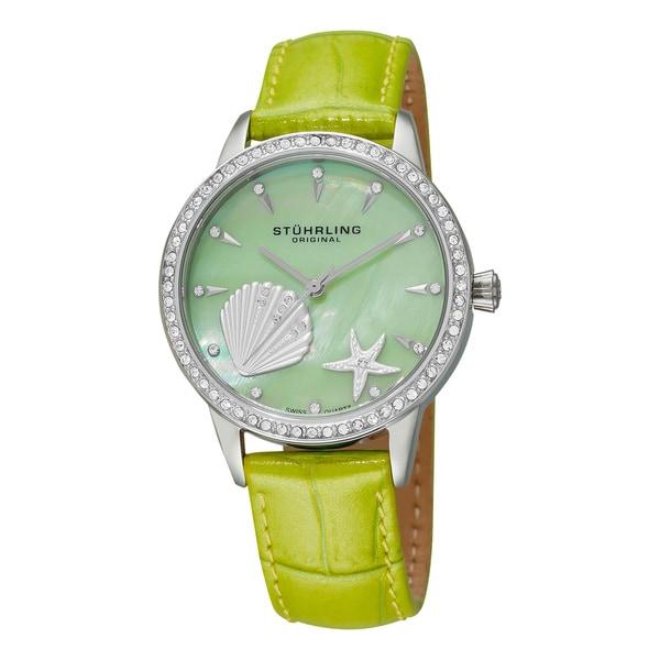 Stuhrling Original Women's Verona La Playa Swiss Quartz Watch - Green