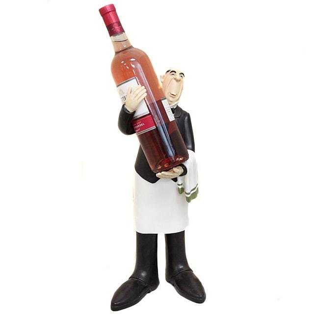 French Waiter Wine Bottle Holder and Kitchen Decor