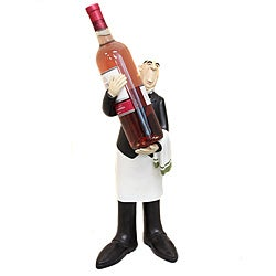 French Waiter Wine Bottle Holder and Kitchen Decor