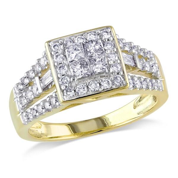 Miadora 14k Yellow Gold 3/4ct TDW Diamond Ring (G-H, I1)